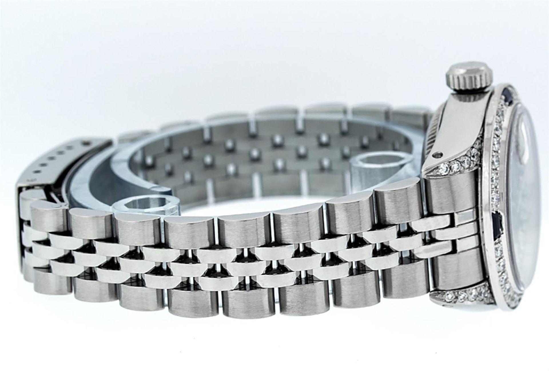 Rolex Ladies Stainless Steel 26MM Black String Diamond Lugs Datejust Wristwatch - Image 4 of 9