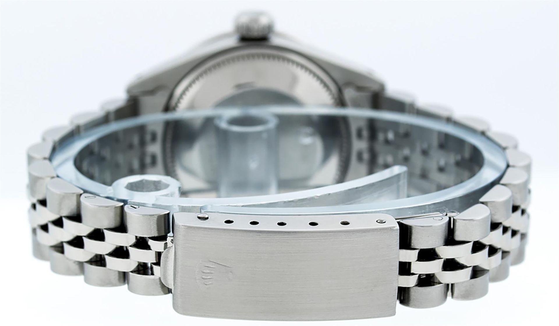 Rolex Ladies Stainless Steel Yellow MOP Emerald & Diamond Datejust Wristwatch - Image 4 of 7