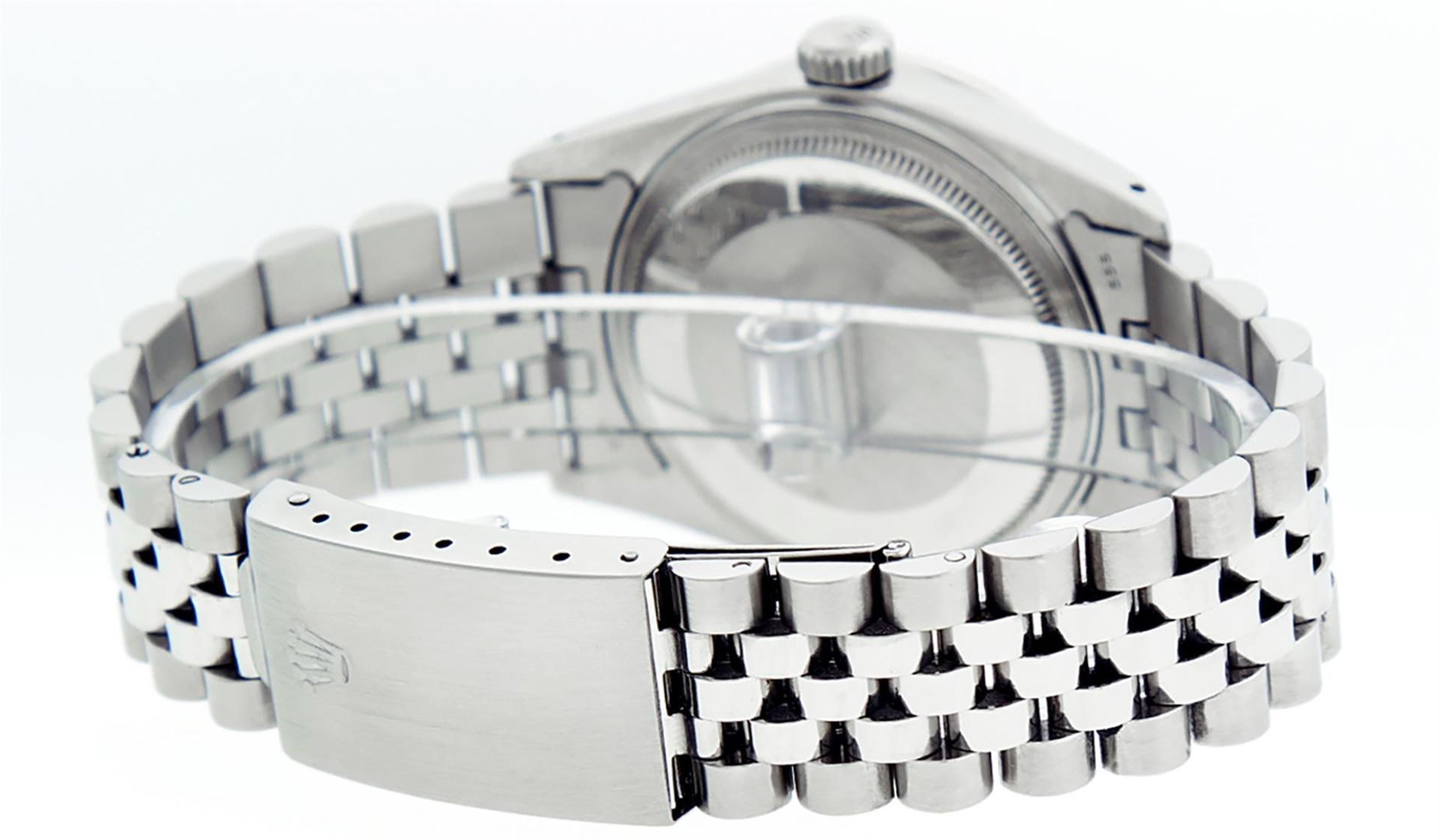 Rolex Mens Stainless Steel Meteorite Diamond And Ruby Datejust Wristwatch 36MM - Image 8 of 9
