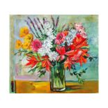 "Lenner Gogli, ""Ornate Bouquet"" Limited Edition on Canvas, Numbered and Hand Sign"