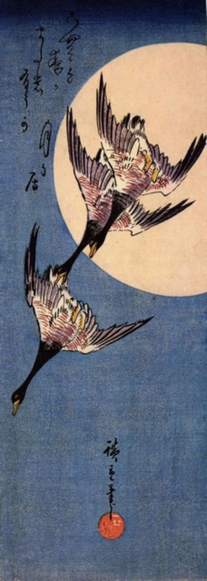 Hiroshige Three Geese Flying