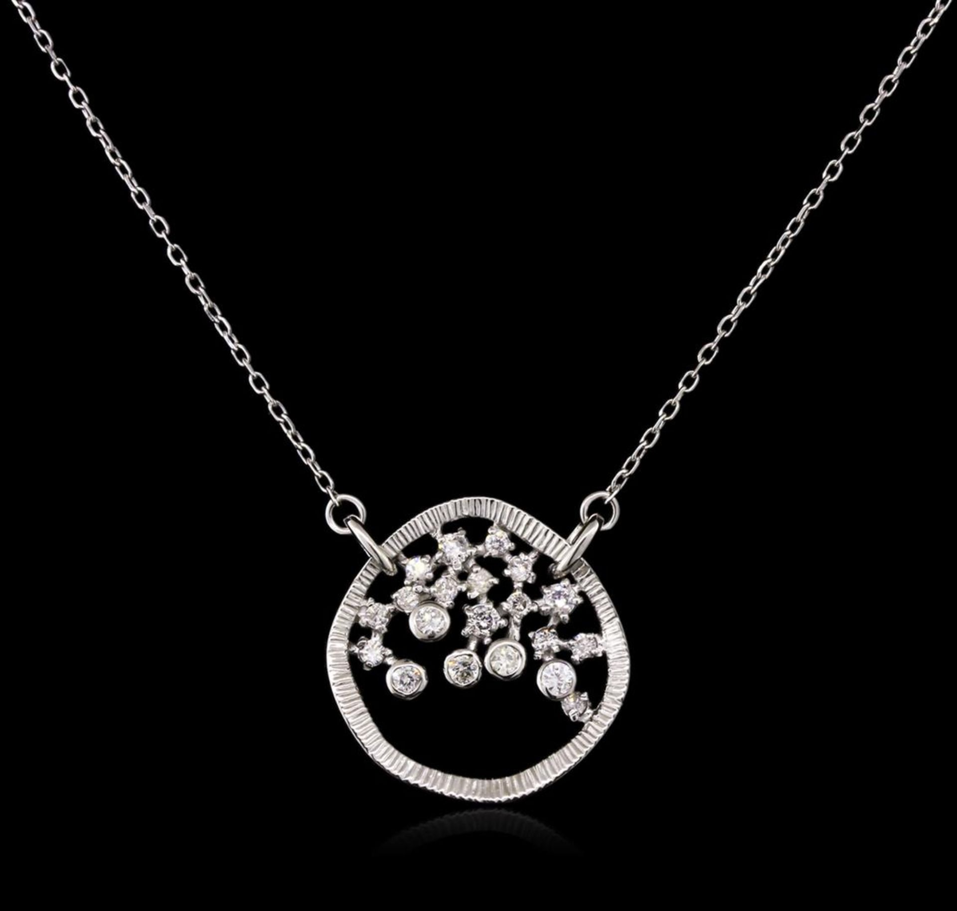0.34 ctw Diamond Necklace - 14KT White Gold