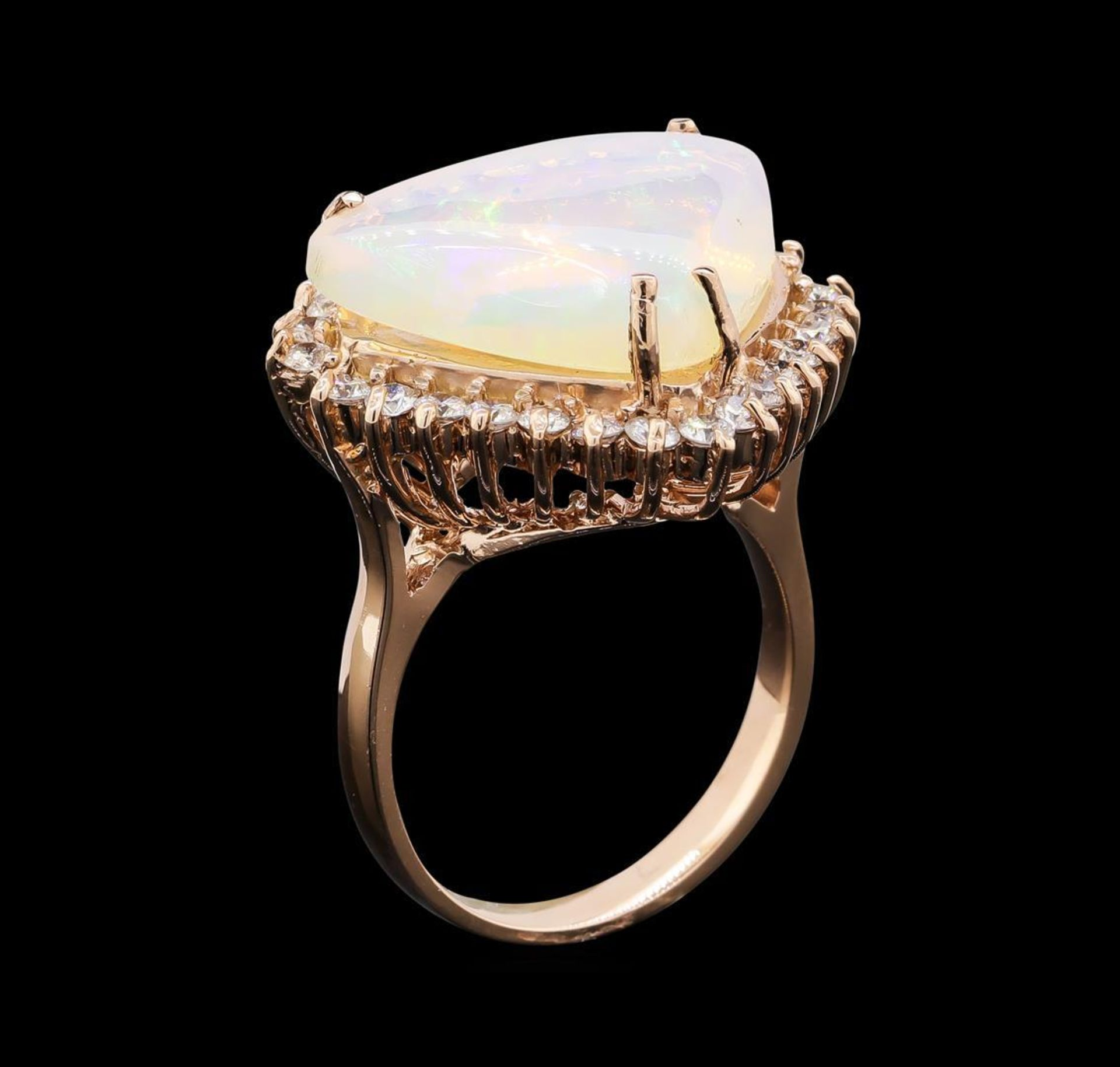 7.51 ctw Opal and Diamond Ring - 14KT Rose Gold - Image 4 of 5