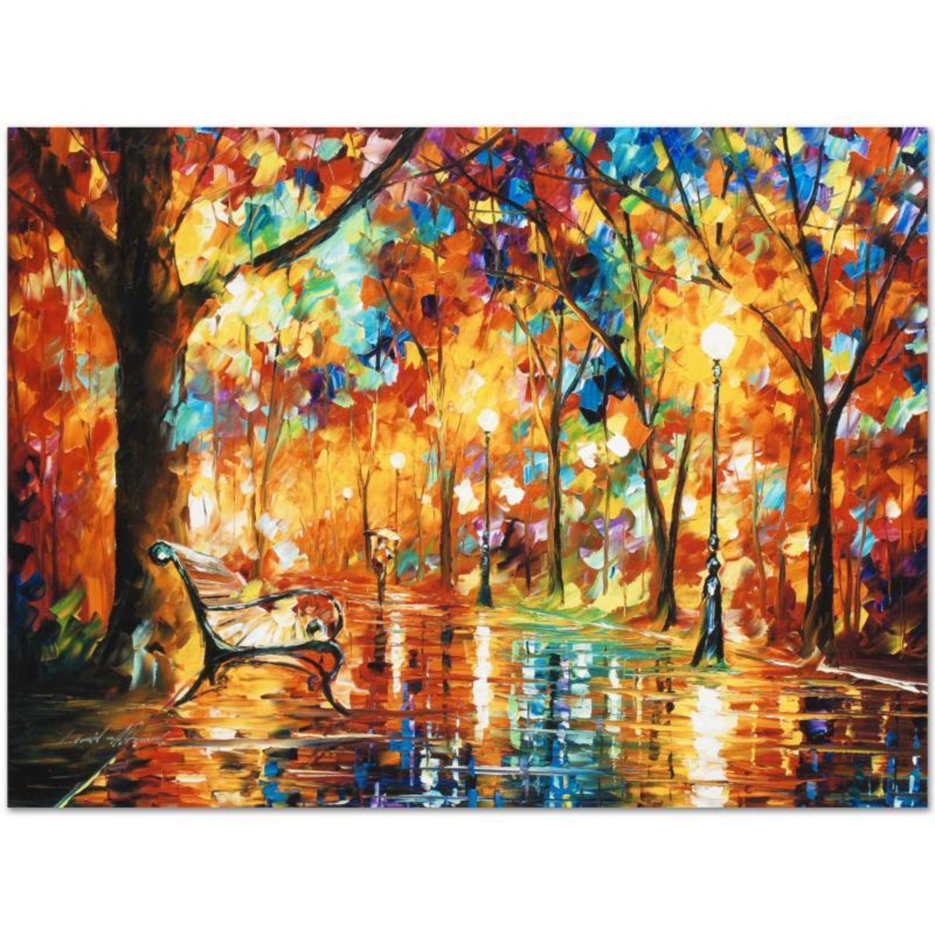 "Leonid Afremov (1955-2019) ""Burst of Autumn"" Limited Edition Giclee on Canvas, N"