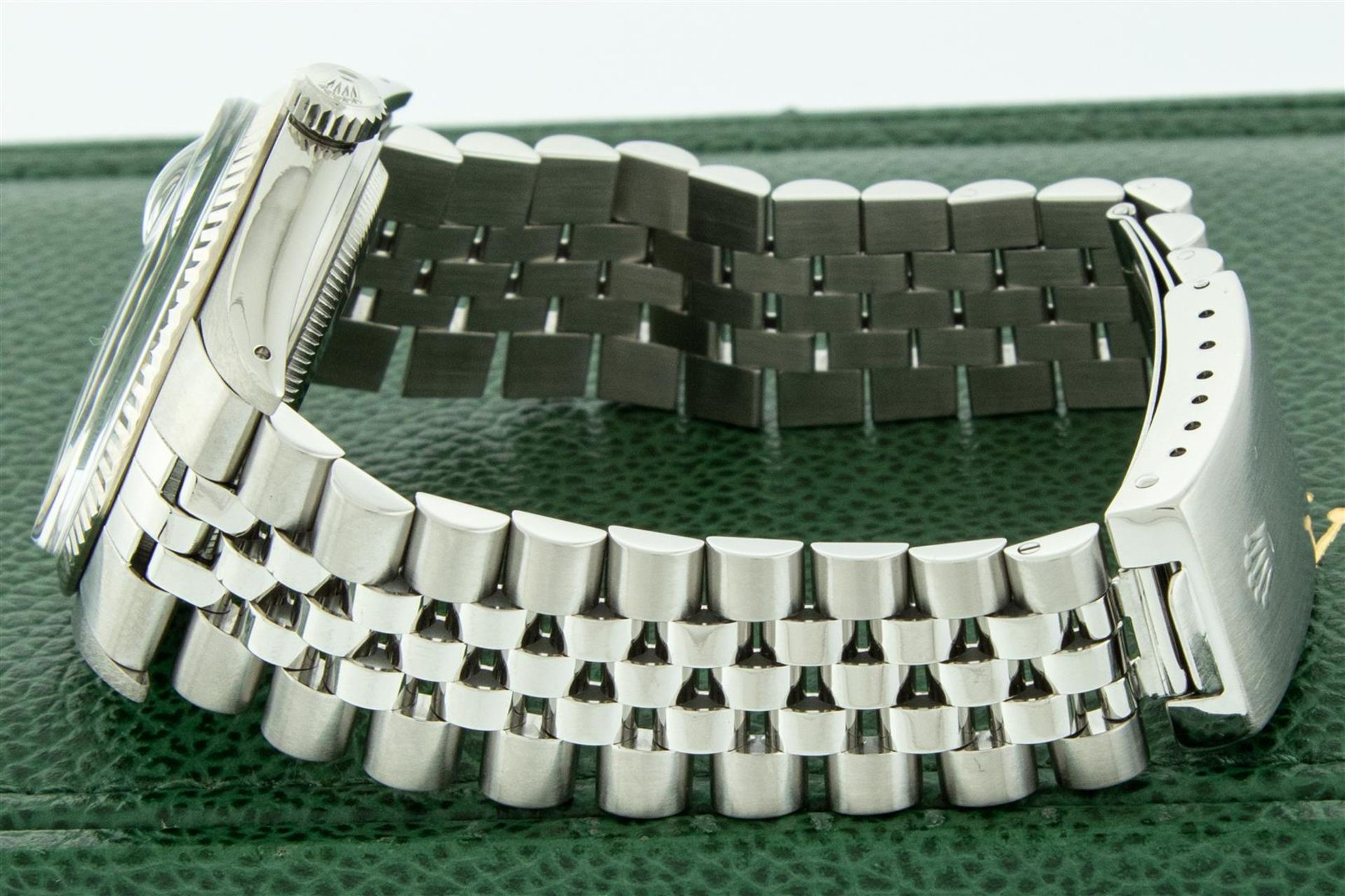 Rolex Mens Stainless Steel Mother Of Pearl Diamond & Ruby Datejust Wristwatch Wi - Image 5 of 8