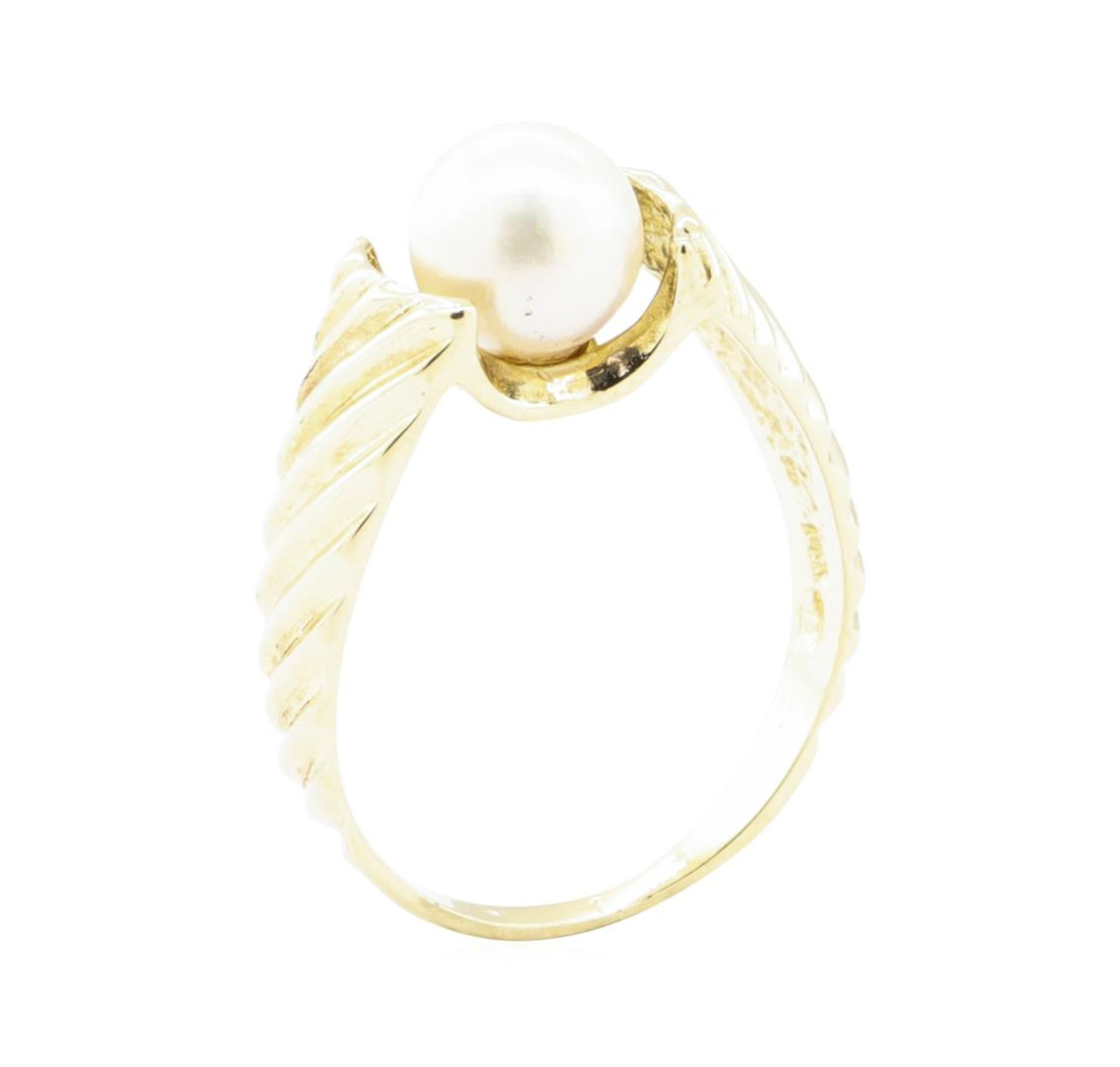 7mm Cultured Pearl Ring - 14KT Yellow Gold - Image 4 of 4