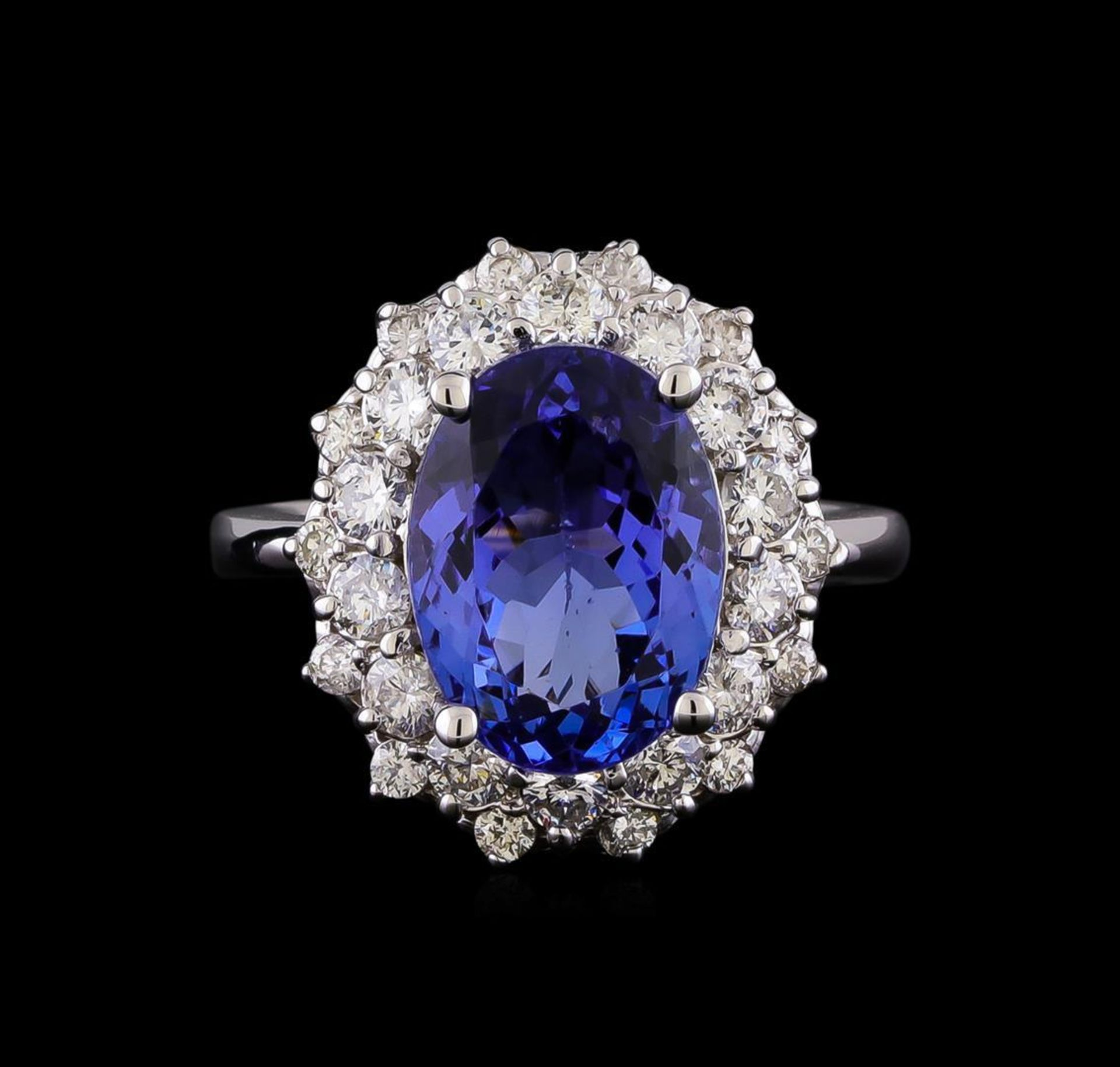 5.53 ctw Tanzanite and Diamond Ring - 14KT White Gold - Image 2 of 5