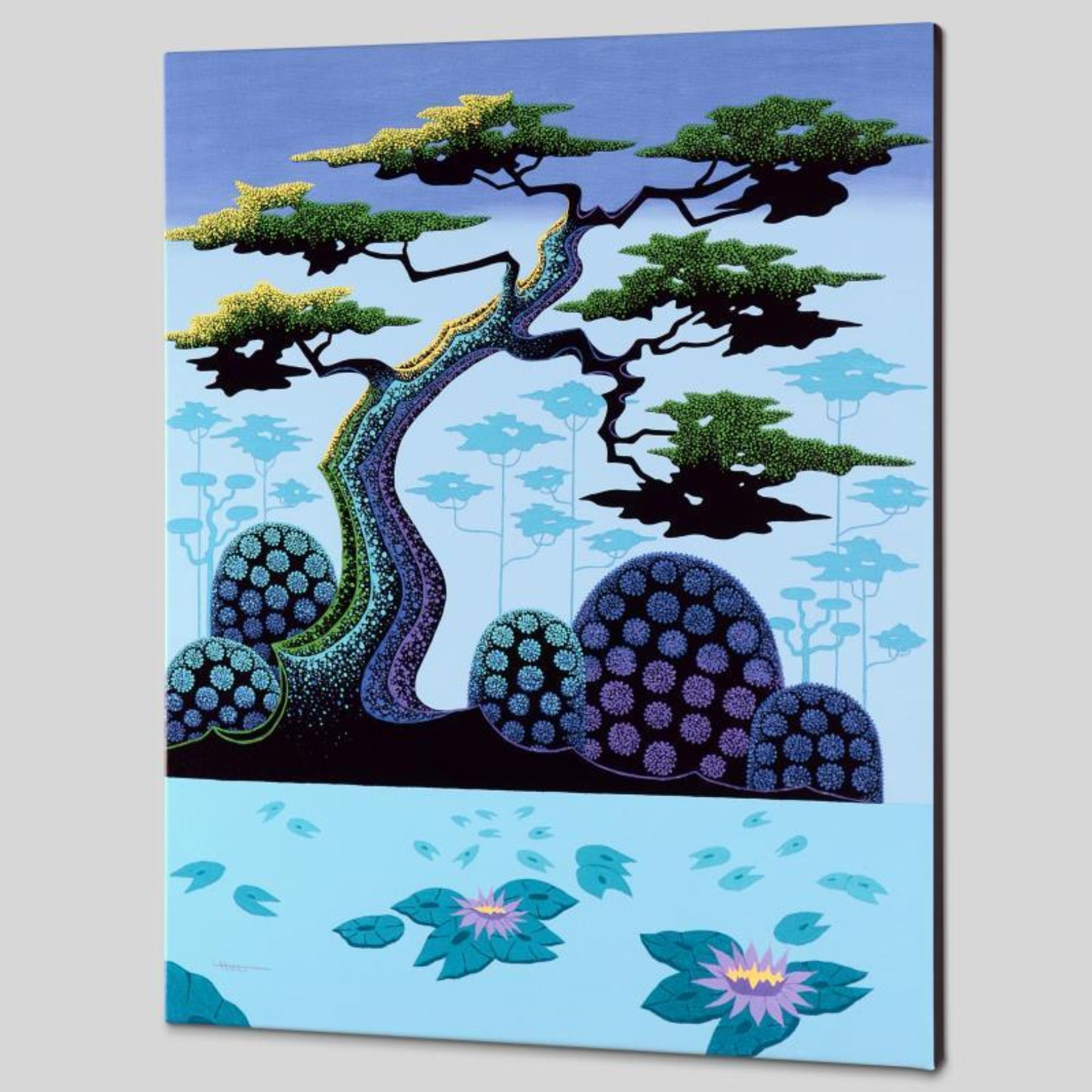 """Lotus by Moonlight"" Limited Edition Giclee on Canvas by Larissa Holt, Numbered - Image 2 of 2"