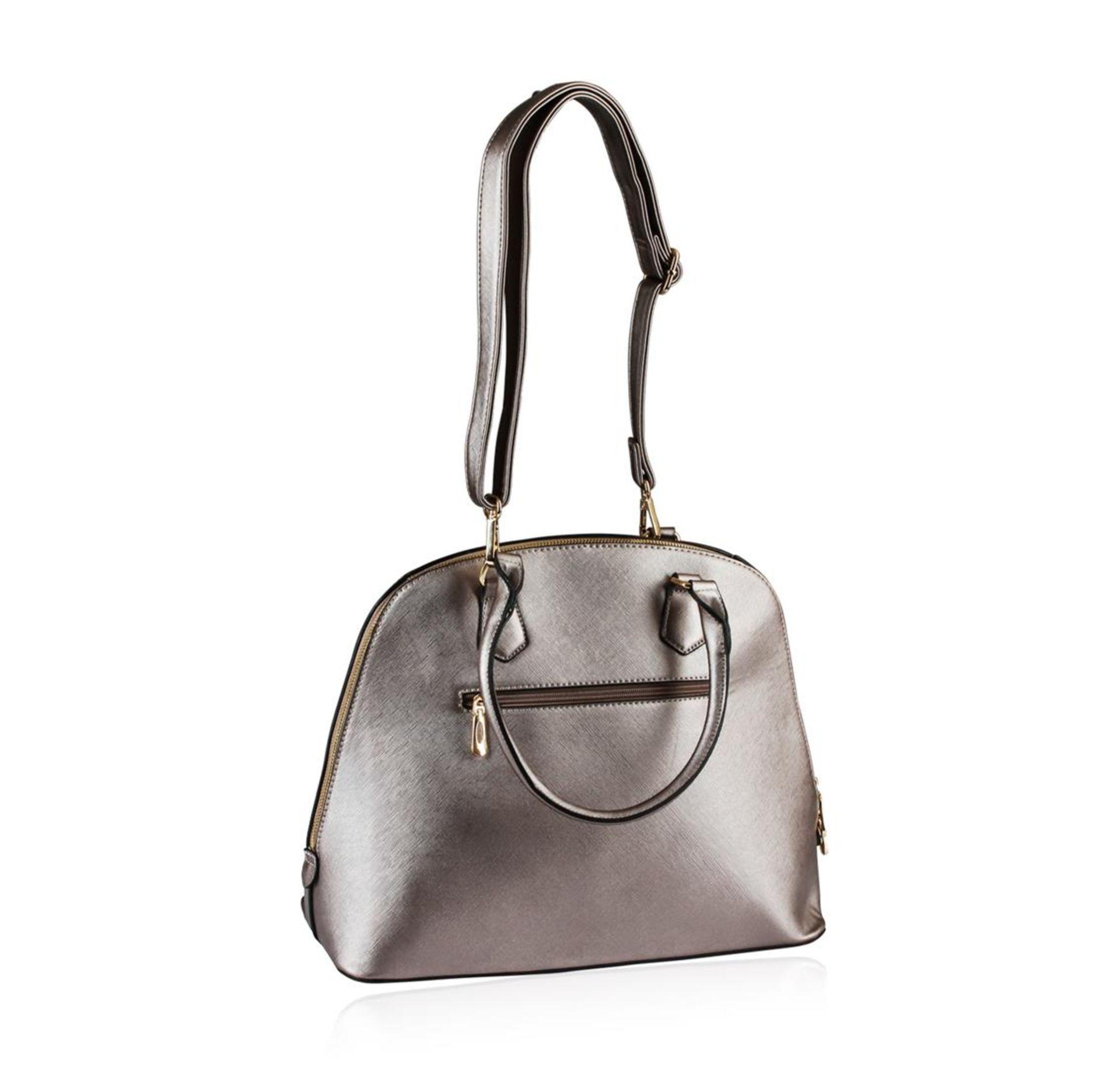 Metallic Silver Rush Handbag - Image 3 of 3