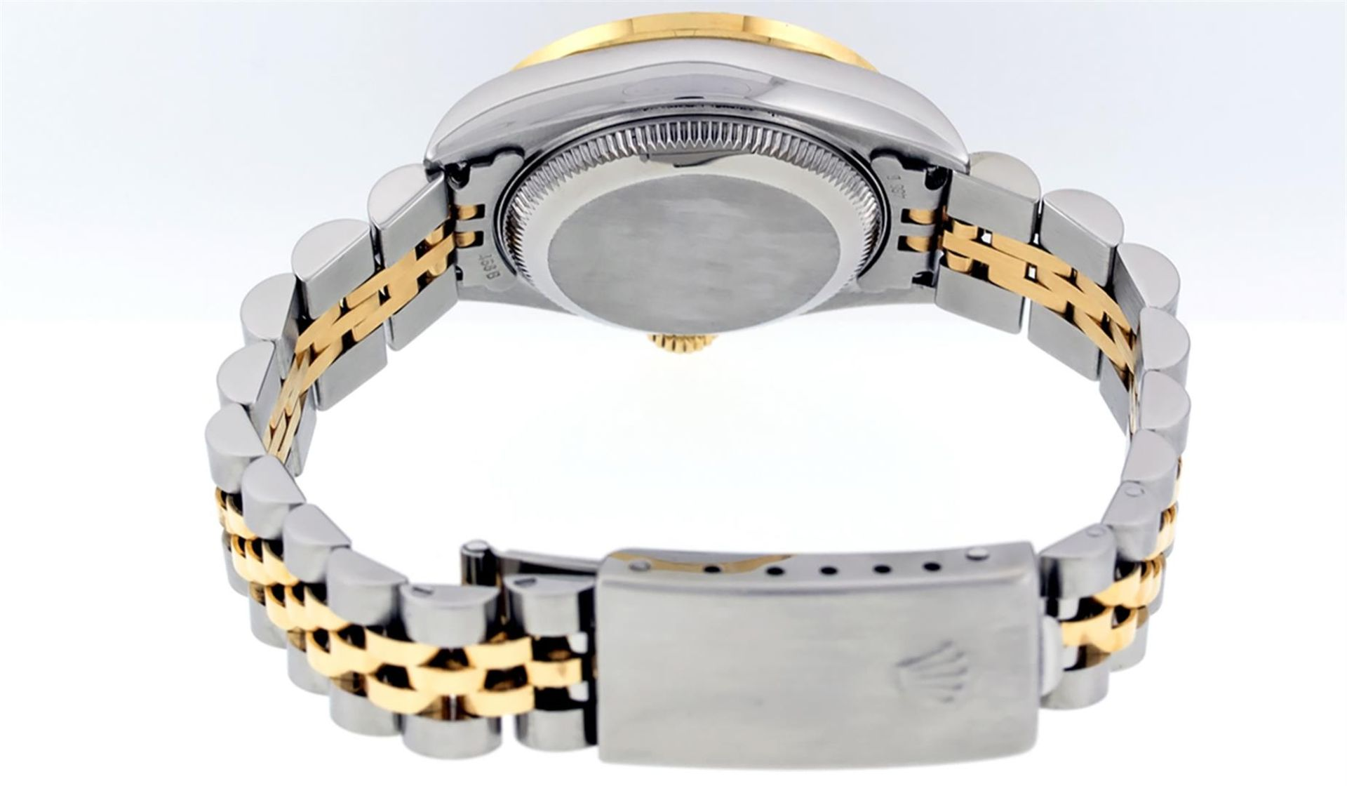 Rolex Ladies 2 Tone 18K Champagne String Diamond Lugs Datejust Wristwatch - Image 5 of 7