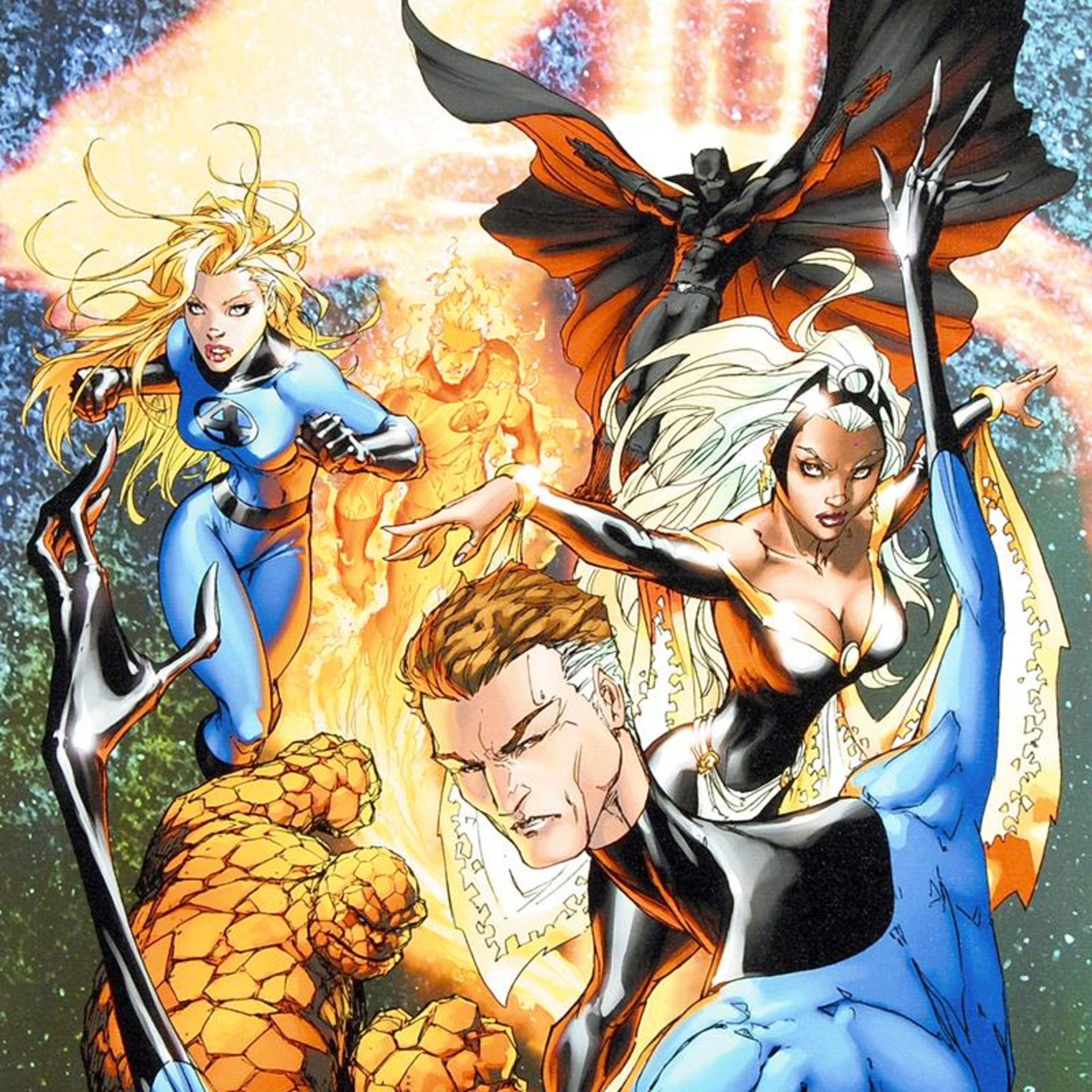 "Marvel Comics, ""Fantastic Four #548"" Numbered Limited Edition Canvas by Michael - Image 2 of 2"