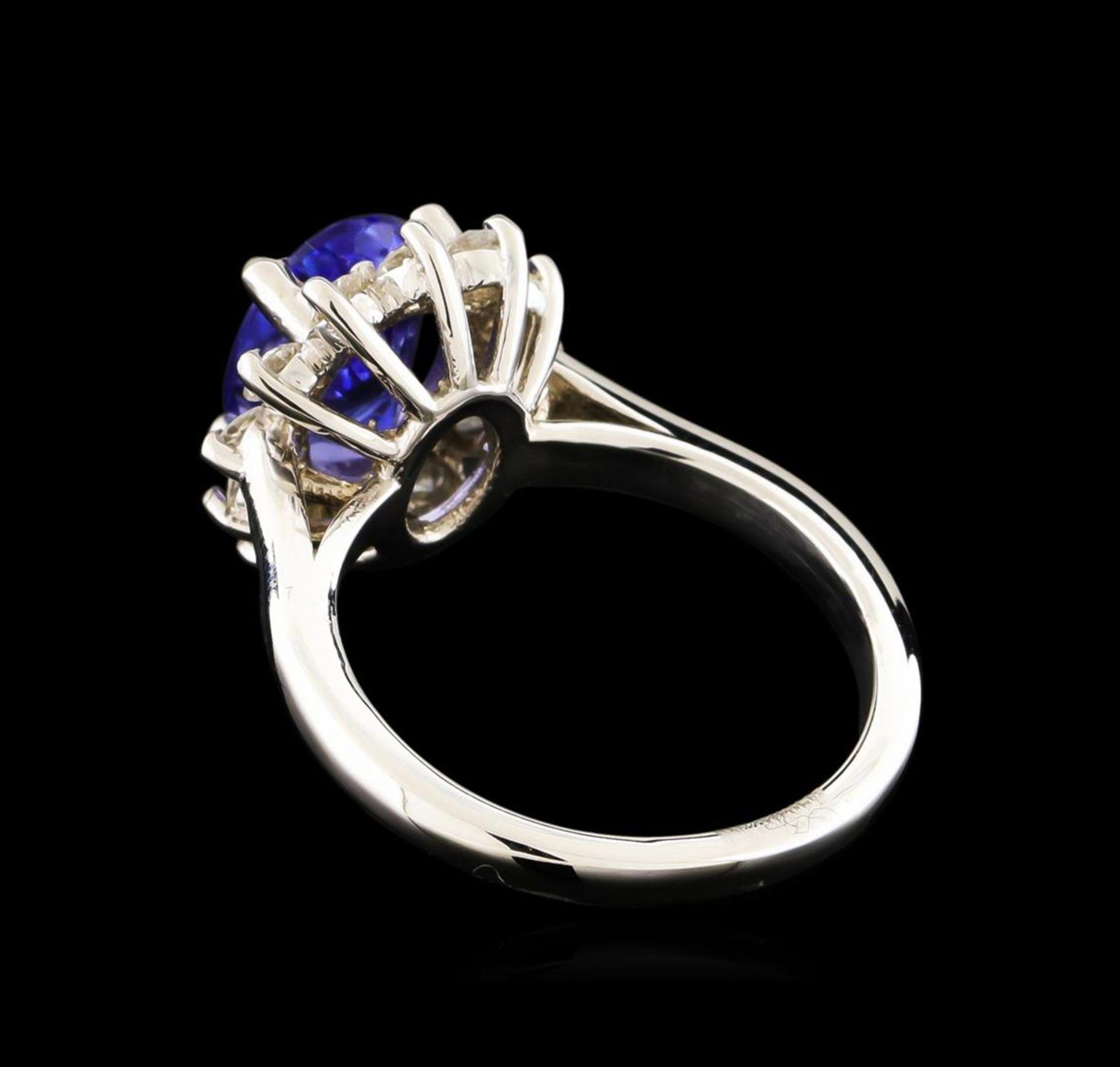 2.61 ctw Tanzanite and Diamond Ring - 14KT White Gold - Image 3 of 5