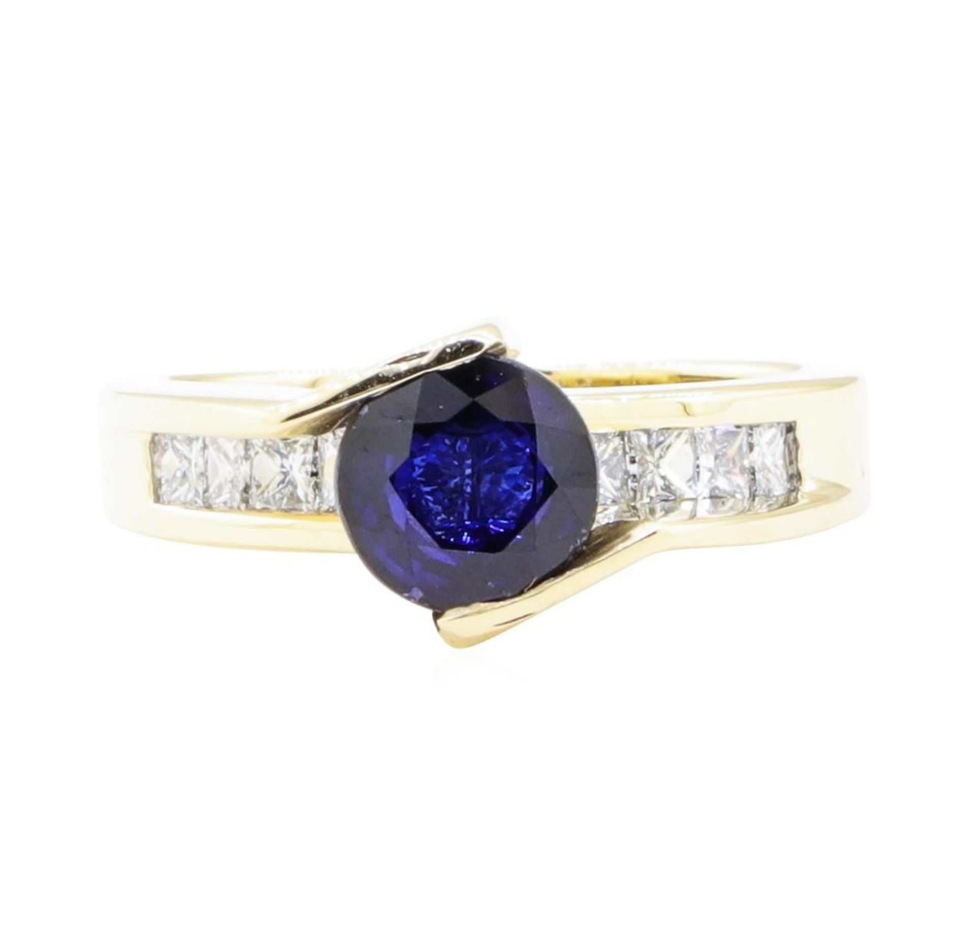 2.14 ctw Sapphire And Diamond Ring - 14KT Yellow Gold - Image 2 of 5