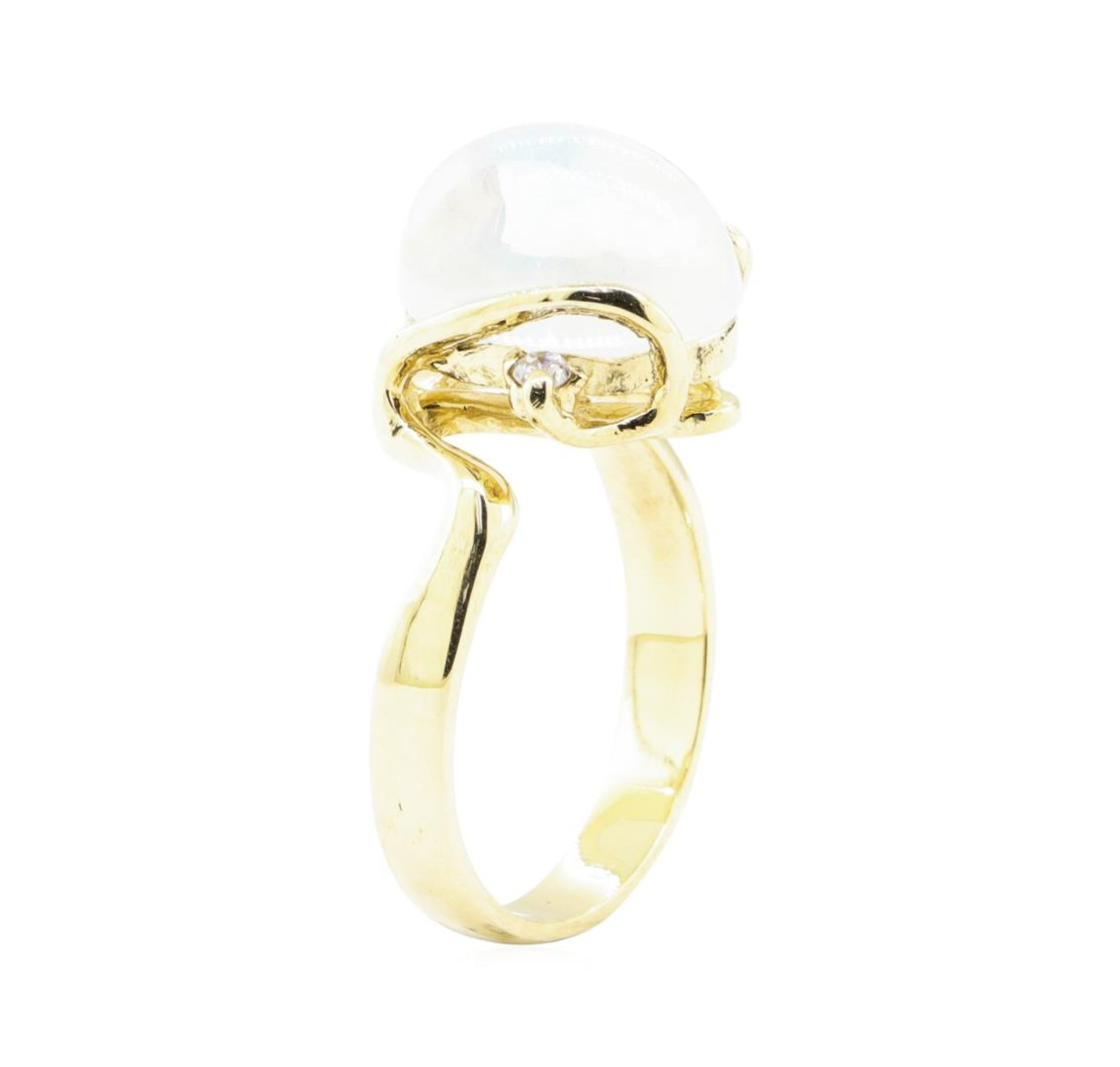6.88 ctw Opal and Diamond Ring - 14KT Yellow Gold - Image 4 of 4