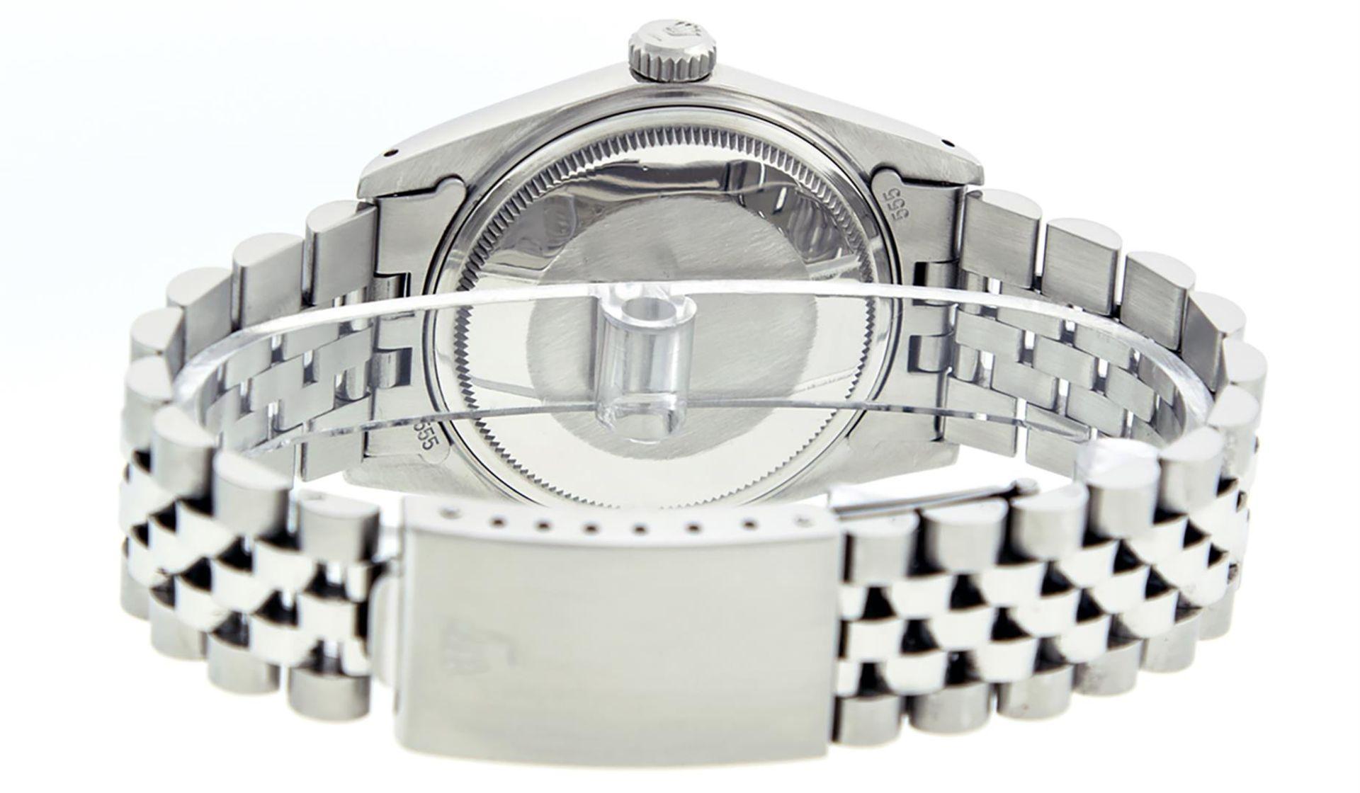 Rolex Mens Stainless Steel Ice Blue Diamond Datejust Wristwatch - Image 8 of 9