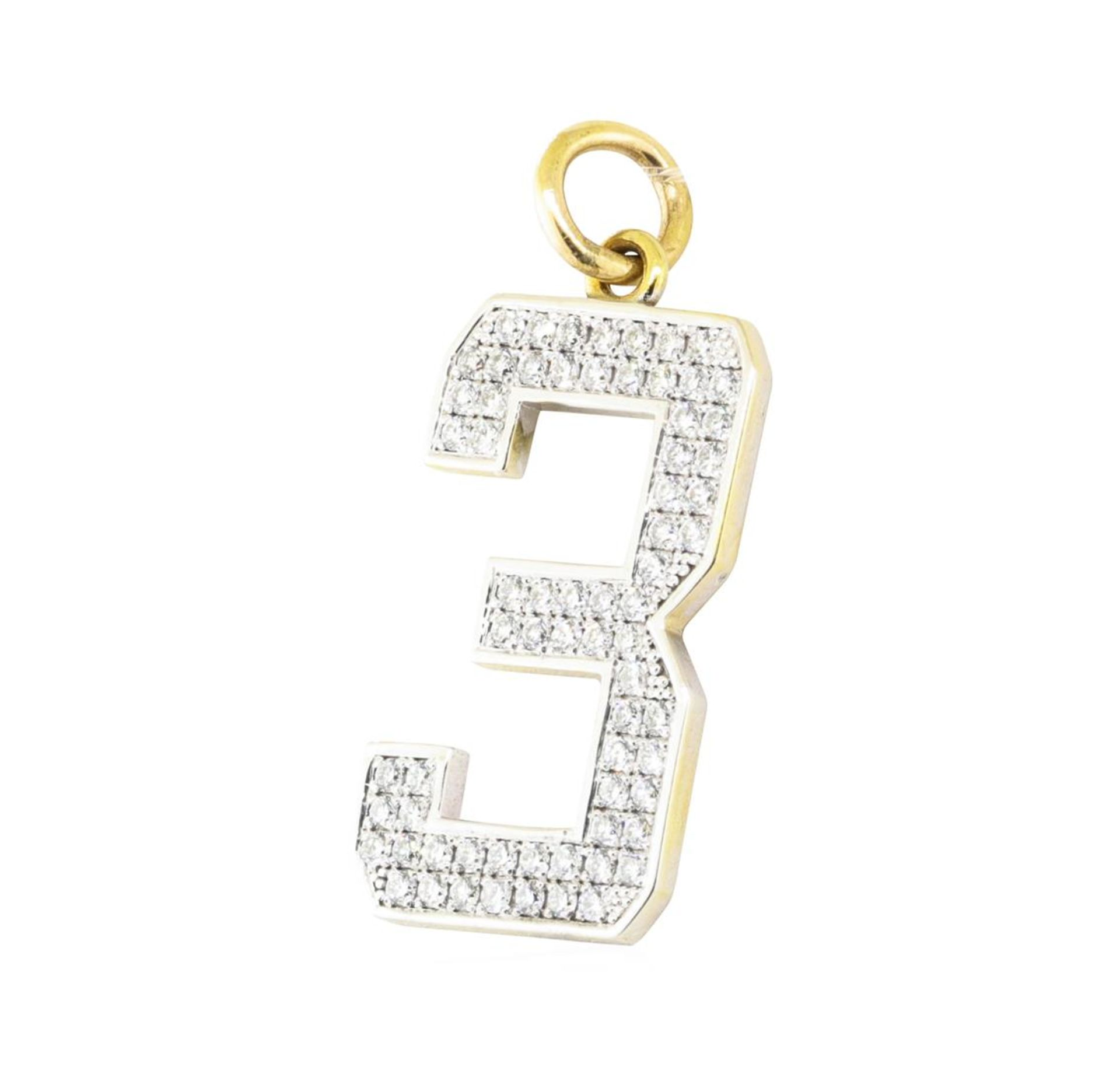 """2.04 ctw Diamond """"3"""" Pendant - 14KT Yellow and White Gold - Image 2 of 2"""