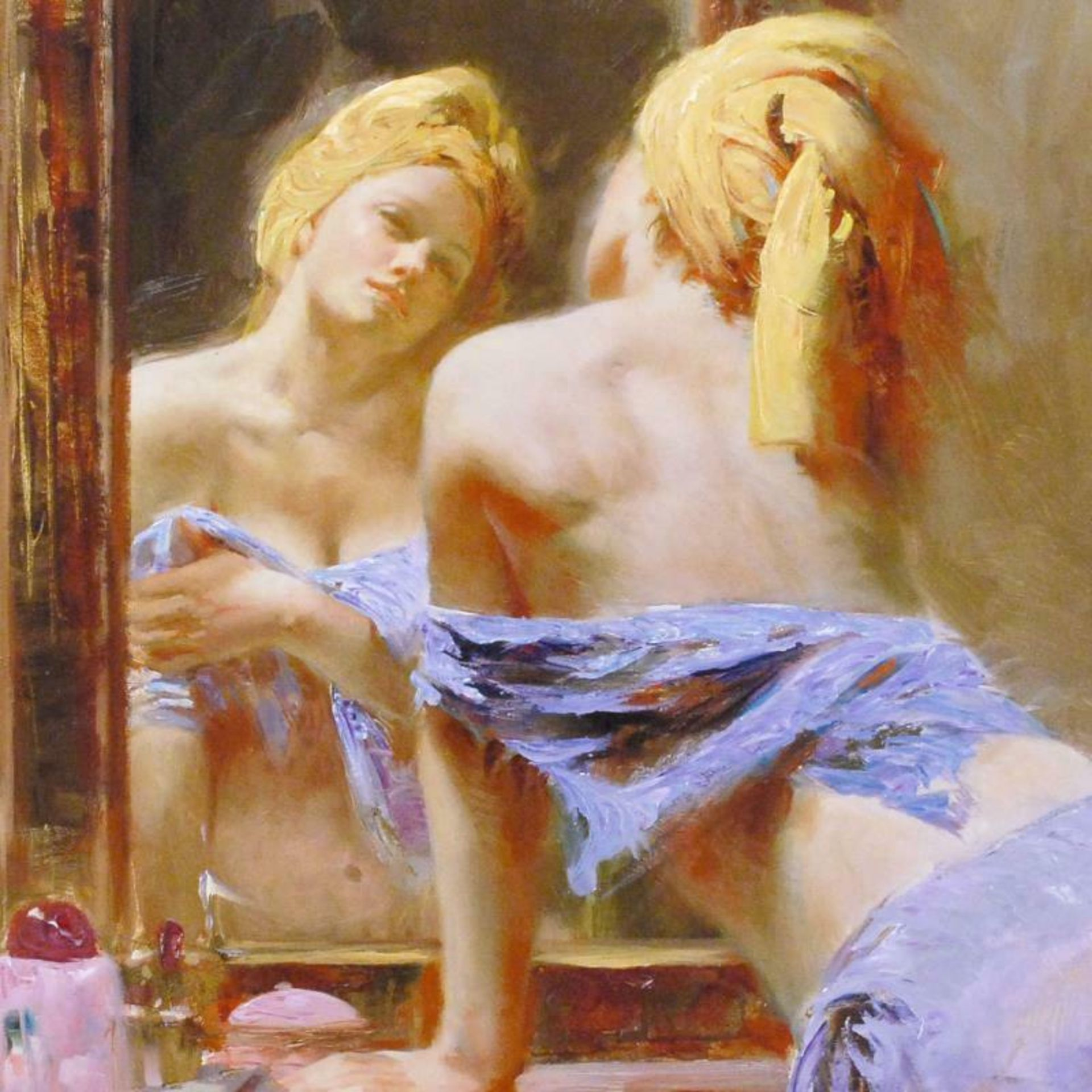 "Pino (1939-2010), ""Morning Reflections"" Artist Embellished Limited Edition on Ca - Image 2 of 2"