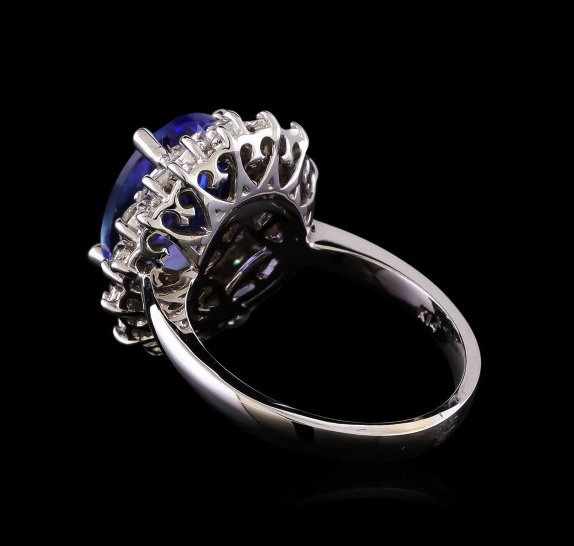 5.53 ctw Tanzanite and Diamond Ring - 14KT White Gold - Image 3 of 5
