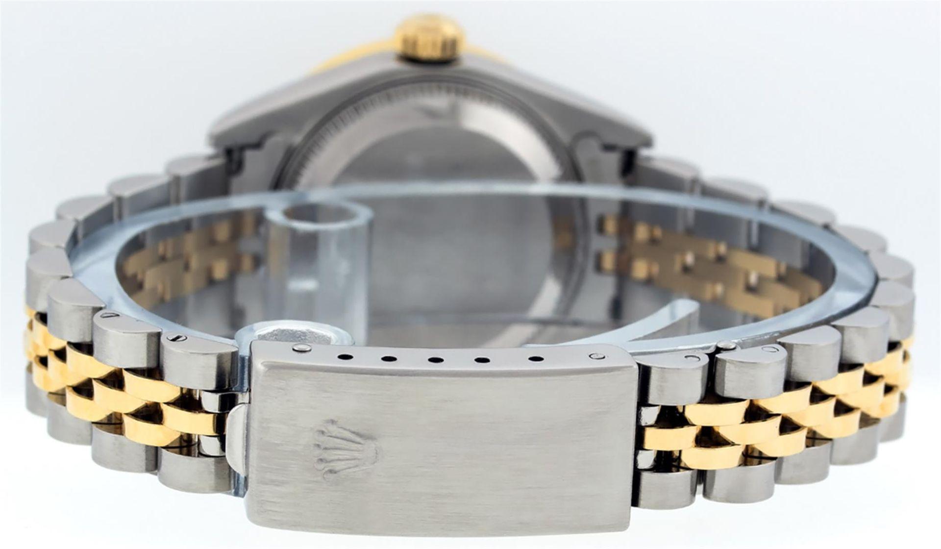 Rolex Ladies 2 Tone 18K Champagne String Diamond Lugs Datejust Wristwatch - Image 4 of 7
