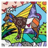 """Britto, """"Capricorn"""" Hand Signed Limited Edition Giclee on Canvas; Authenticated."""
