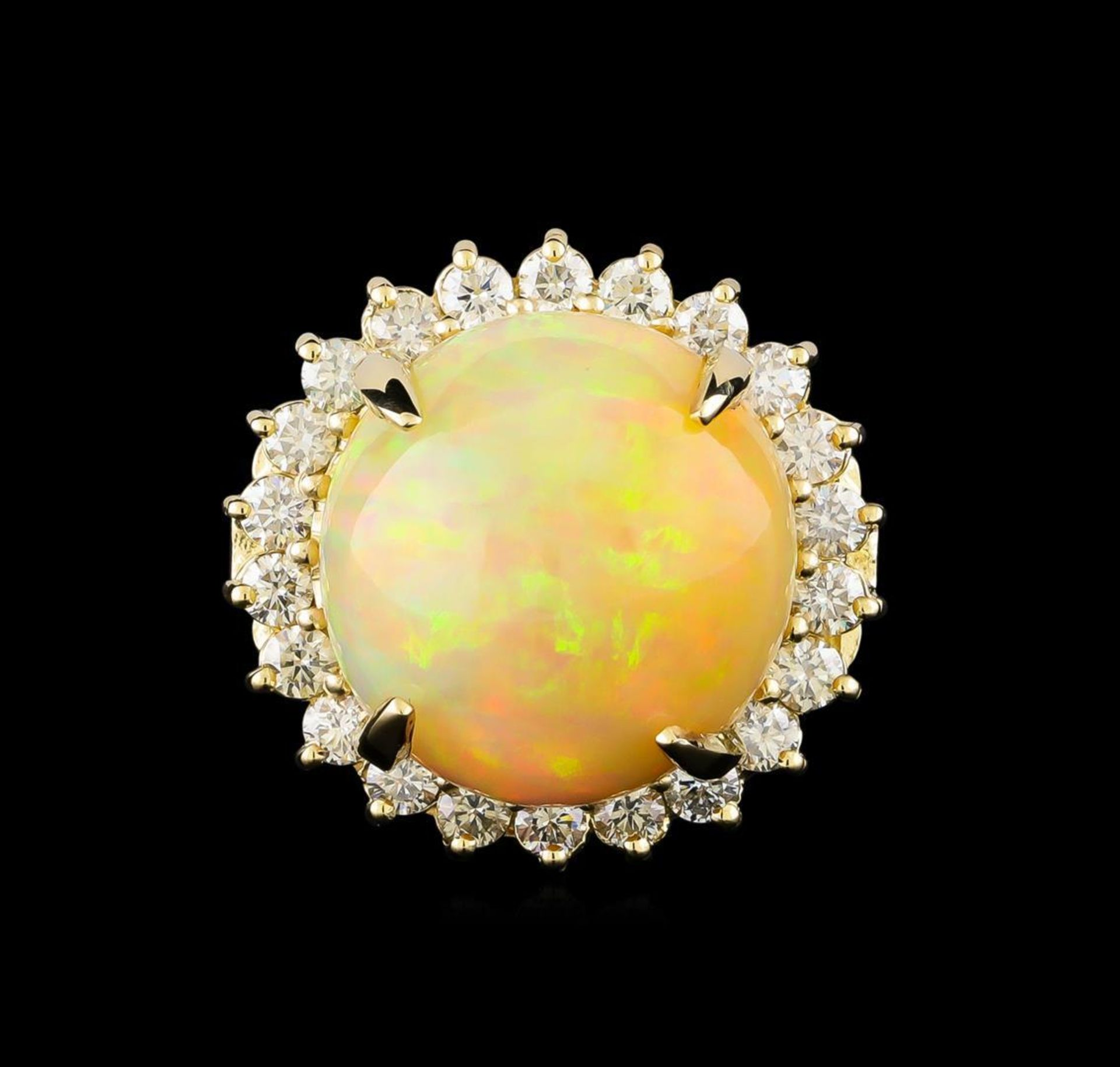 19.85 ctw Opal and Diamond Ring - 14KT Yellow Gold - Image 2 of 5