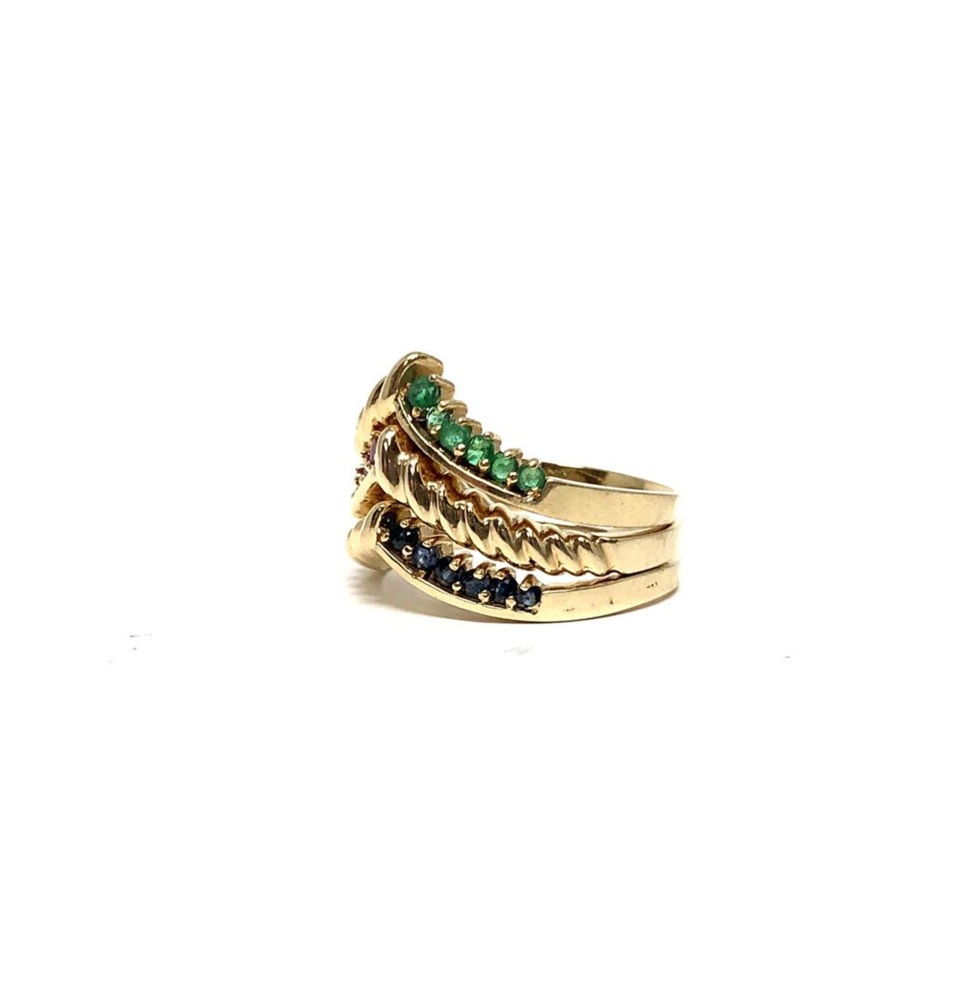 0.69 ctw Round Brilliant Emerald Rings - 14KT Yellow Gold - Image 2 of 4
