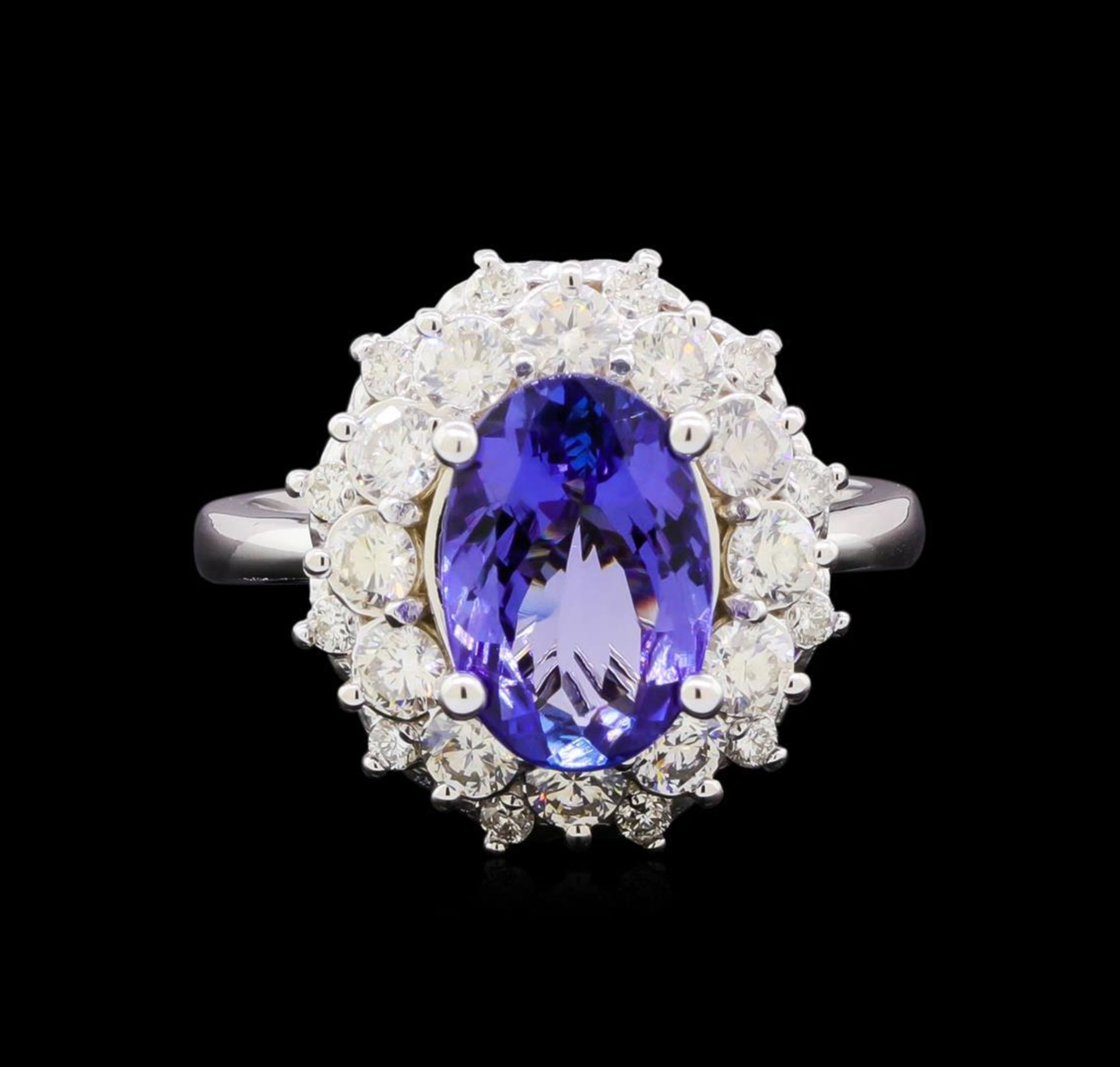 3.23 ctw Tanzanite and Diamond Ring - 14KT White Gold - Image 2 of 5