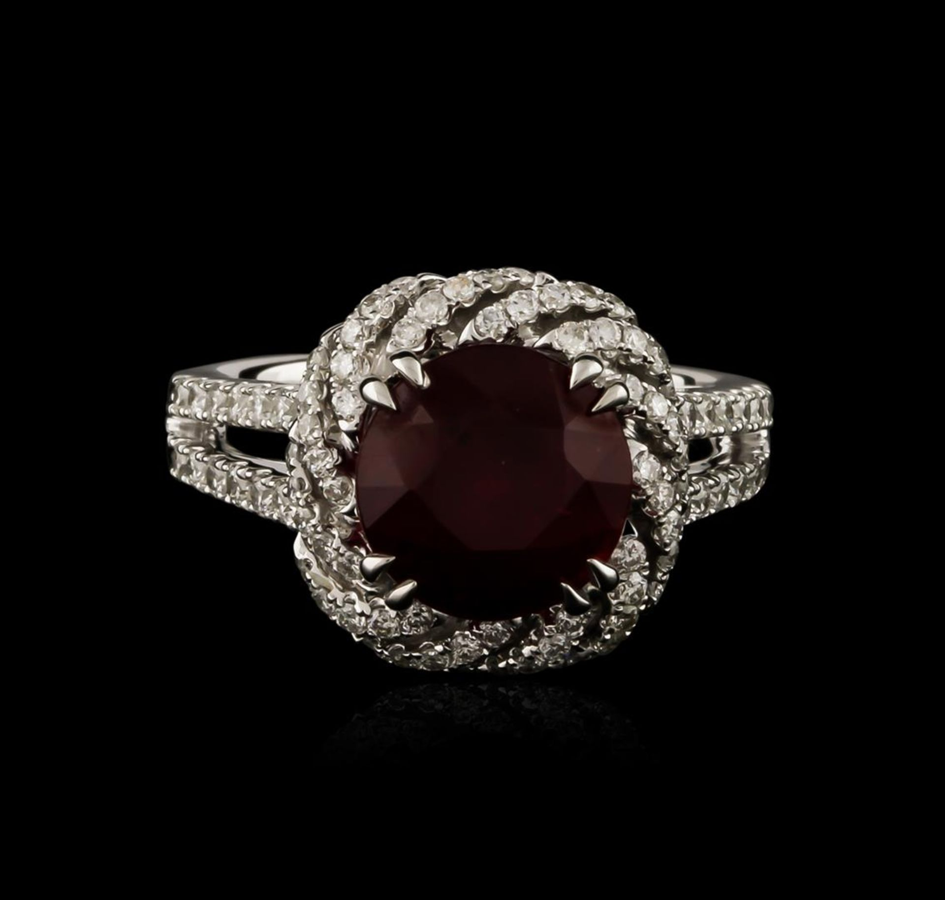 14KT White Gold 4.05 ctw Ruby and Diamond Ring - Image 2 of 3