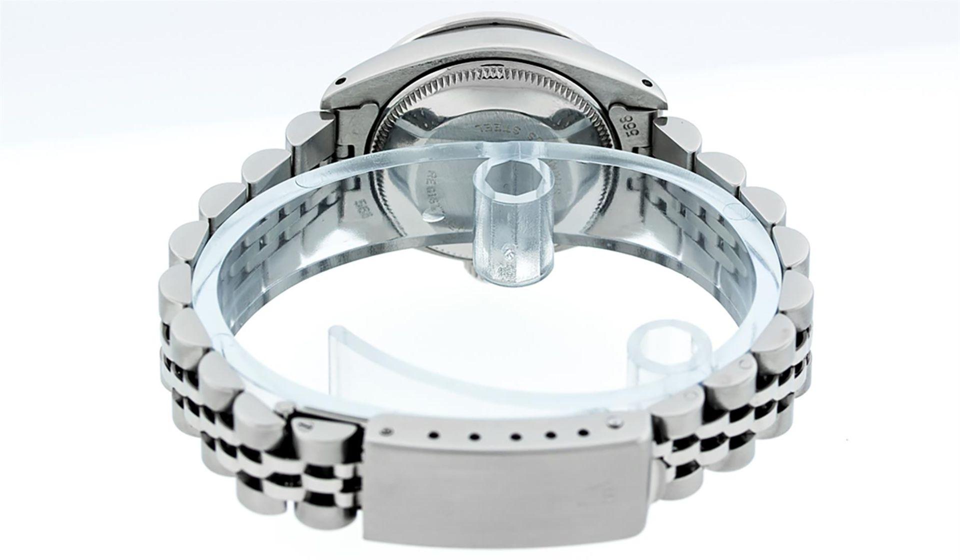 Rolex Ladies Stainless Steel Yellow MOP Emerald & Diamond Datejust Wristwatch - Image 5 of 7