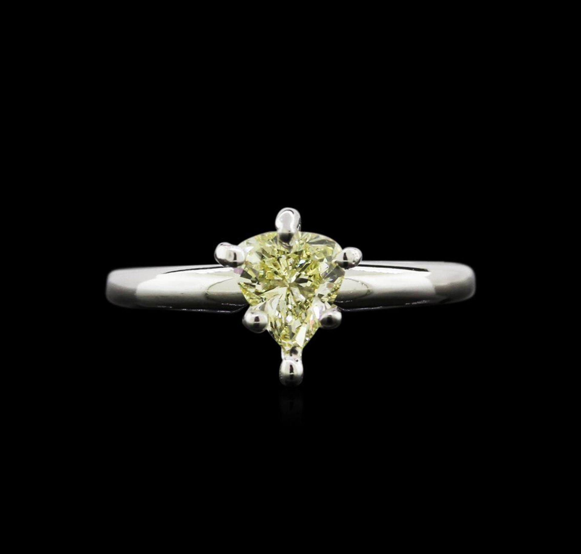 GIA Cert 0.74 ctw Diamond Solitaire Ring - 14KT White Gold - Image 2 of 5