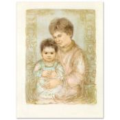 """""""Ulla and Eric"""" Limited Edition Lithograph by Edna Hibel (1917-2014), Numbered a"""