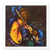 """KAT, """"Hendrix"""" Limited Edition Lithograph, Numbered and Hand Signed with Certifi"""