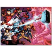 """Marvel Comics """"Avengers Academy #11"""" Numbered Limited Edition Giclee on Canvas b"""