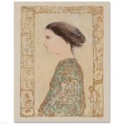 """""""China Profile"""" Limited Edition Lithograph by Edna Hibel (1917-2014), Numbered a"""