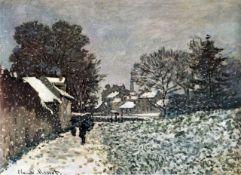 Claude Monet - Snow at Argenteuil