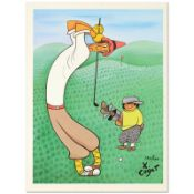 """Xavier Cugat (1900-1990), """"Skinny Golfer"""" Limited Edition Lithograph, Numbered a"""