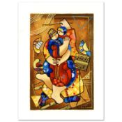 """Dorit Levi, """"Our Strings Attached"""" Limited Edition Serigraph, Numbered and Hand"""