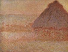 Claude Monet - Haystacks at Sunset