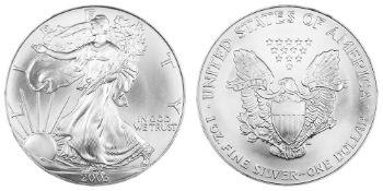 2003 American Silver Eagle .999 Fine Silver Dollar Coin