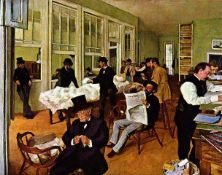 Edgar Degas - The Cotton Exchange