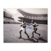 "Must-Have Signed Sports Photo. ""Ken Norton and Ali, Yankee Stadium"" Hand-Autogra"