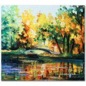"Leonid Afremov (1955-2019) ""To Walk Alone"" Limited Edition Giclee on Canvas, Num"