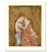 """""""Interlude"""" Limited Edition Serigraph by Edna Hibel (1917-2014), Numbered and Ha"""