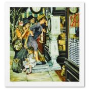 """Susan Brabeau, """"The Weigh Machine"""" Limited Edition Seriolithogrpah, Numbered and"""