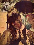 Edgar Degas - In The Tuileries - Woman With Parasol