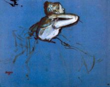 Edgar Degas - Sitting Dancer In Profile With Hand On Her Neck