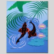 """""""Koi Garden"""" Limited Edition Giclee on Canvas by Larissa Holt, Numbered and Sign"""