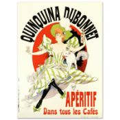 """RE Society, """"Quinquina Dubonnet"""" Hand Pulled Lithograph, Image Originally by Jul"""
