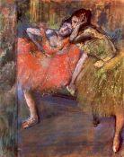 Edgar Degas - Two Dancers Behind The Scenes