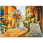 "Leonid Afremov (1955-2019) ""The Sun of Sicily"" Limited Edition Giclee on Canvas,"
